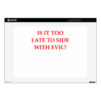 EVIL LAPTOP DECALS