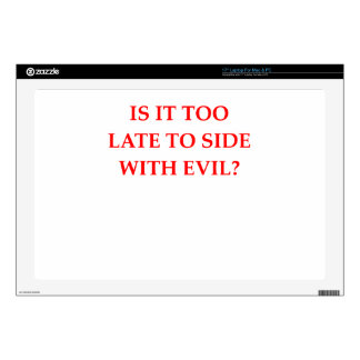 "EVIL 17"" LAPTOP DECAL"