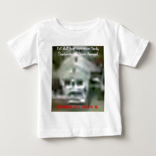 Evil skull appeaed in Superstorm  Sandy Damage! Baby T-Shirt