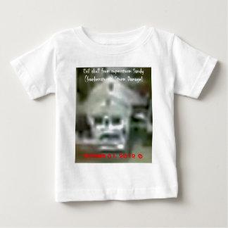 Evil skull appeared in superstorm sandy damage baby T-Shirt