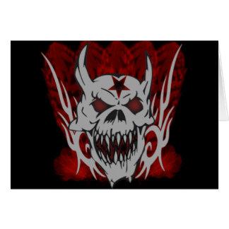 Evil Skull Card