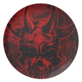 Evil Skull Plates