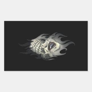 Evil Skull Rectangle Stickers