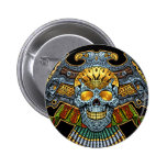 Evil Skull with Guns and Bullets by Al Rio 2 Inch Round Button