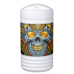 Evil Skull with Guns and Bullets by Al Rio Beverage Cooler