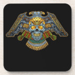 Evil Skull with Guns and Bullets by Al Rio Drink Coasters