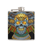 Evil Skull with Guns and Bullets by Al Rio Flasks