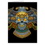 Evil Skull with Guns and Bullets by Al Rio Greeting Card
