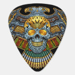 Evil Skull with Guns and Bullets by Al Rio Guitar Pick