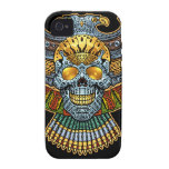 Evil Skull with Guns and Bullets by Al Rio iPhone 4 Cases