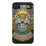 Evil Skull with Guns and Bullets by Al Rio iPhone 4 Cover