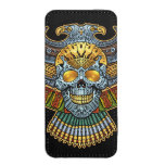 Evil Skull with Guns and Bullets by Al Rio iPhone SE/5/5s/5c Pouch