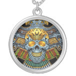 Evil Skull with Guns and Bullets by Al Rio Personalized Necklace