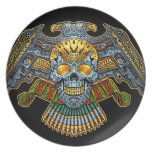 Evil Skull with Guns and Bullets by Al Rio Party Plates