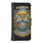 Evil Skull with Guns and Bullets by Al Rio iPhone 5 Wallet Case