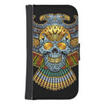 Evil Skull with Guns and Bullets by Al Rio Galaxy S4 Wallet Case