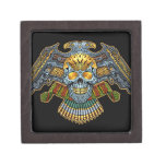 Evil Skull with Guns and Bullets by Al Rio Premium Jewelry Box