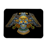 Evil Skull with Guns and Bullets by Al Rio Rectangular Photo Magnet