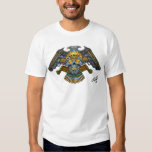 Evil Skull with Guns and Bullets by Al Rio Tee Shirt