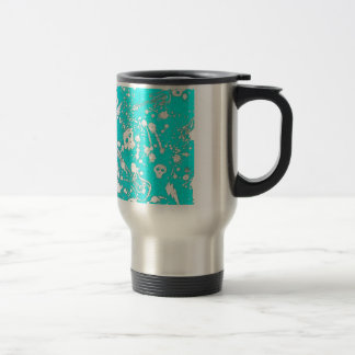 Evil - skulls and guitars in baby blue coffee mugs