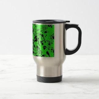 Evil - skulls and guitars in green mugs