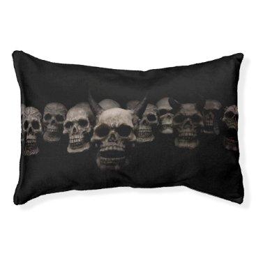 Halloween Themed Evil Skulls Pet Bed