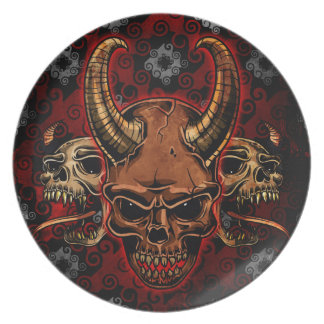 Evil Skulls Dinner Plates