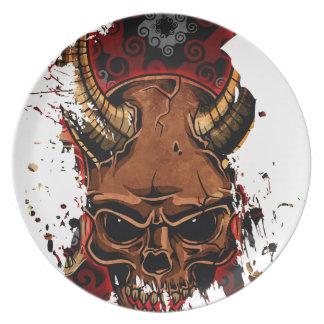 Evil Skulls Party Plate