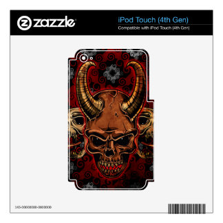 Evil Skulls Decals For iPod Touch 4G