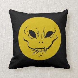 Evil Smiely Anticipation Face Cushion