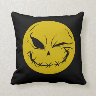 Evil Smiely Winking Face Cushion