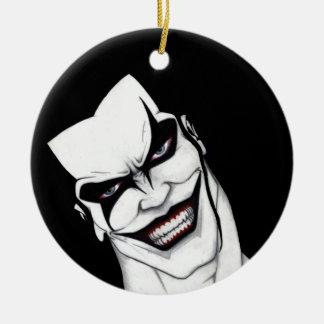 Evil smile ceramic ornament
