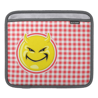 Evil Smile; Red and White Gingham iPad Sleeves