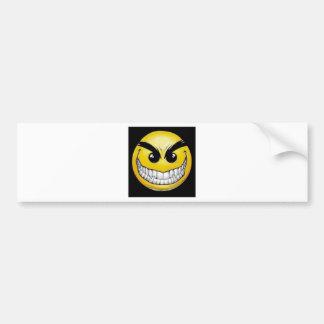 Evil smiley face bumper stickers