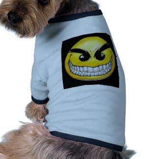 Evil smiley face dog clothes