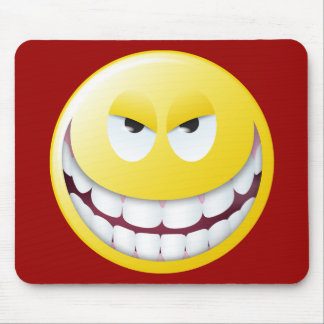 Evil Smiley Face Mouse Pad