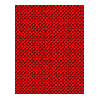 evil smiley faced black hearts on rough red surfac personalized flyer
