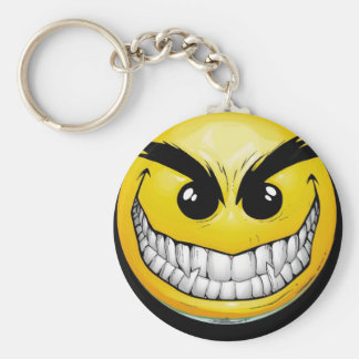 Evil Smiley Key Chain