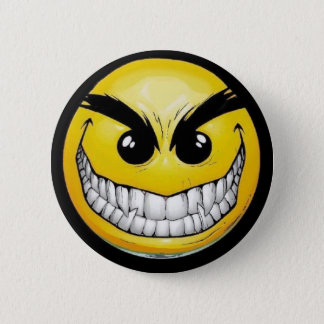 Evil Smiley Pinback Button