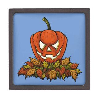evil smiling halloween pumpkin keepsake box