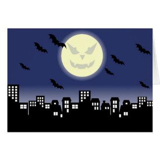 Evil Smiling Moon - Halloween Night Greeting Card
