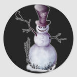 evil snowman sticker