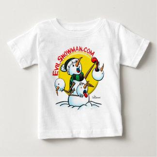 evil snowman tee shirt