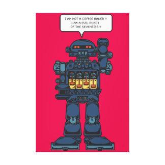 Evil Space Robot Canvas Print