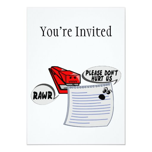 Evil Stapler 5x7 Paper Invitation Card