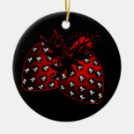 Evil Strawberries Christmas Ornaments