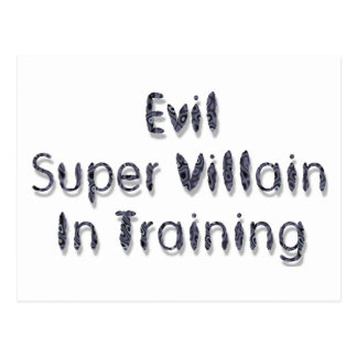 Evil Super Villain In Training Postcard