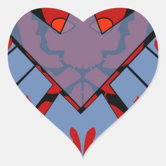 Evil Takes over Heart Sticker