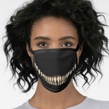 Evil Toothy Chesire Grin Face Mask