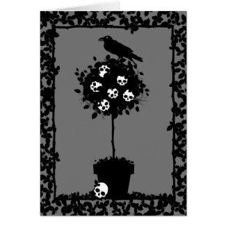 Evil Topiary Coordinates zazzle_card